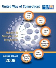 2009 Annual Report - United Way of Connecticut