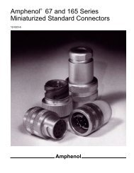Amphenol 67 and 165 Series Miniaturized Standard Connectors