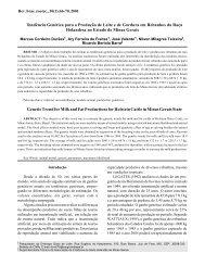 Tendência Genética para a Produção de Leite e de Gordura em ...