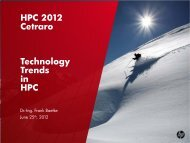 Technology Trends in High Performance Computing