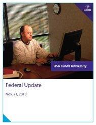 Federal Update Manual - USA Funds