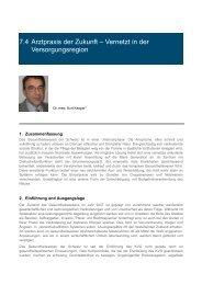 7.4 Arztpraxis der Zukunft – Vernetzt in der ... - Argomed