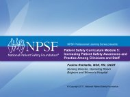 Patient Safety Curriculum Module 5 - National Patient Safety ...