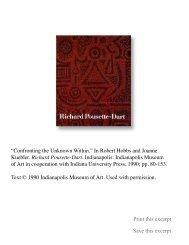 Richard Pousette-Dart - Robert Hobbs