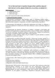 Záróvizsga-leírás - Orvosi laboratóriumi és képalkotó diagnosztikai ...