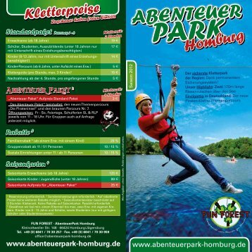 Flyer AbenteuerPark Homburg - Fun Forest