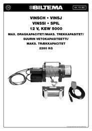 VINSCH • VINSJ VINSSI • SPIL 12 V, KEW 5000 - Biltema