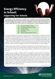 Energy Efficiency in School: - Oxfordshire County Council