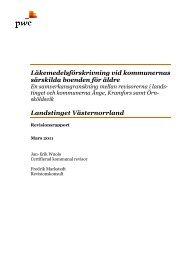 Läkemedelsförskrivning vid kommunernas särskilda boenden för ...