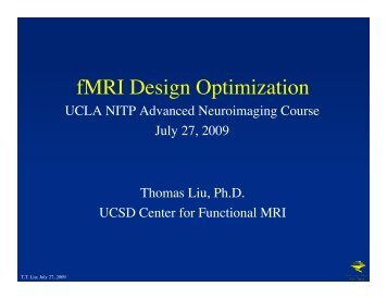 fMRI Design Optimization - Brainmapping.ORG