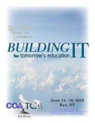 June 14 - 16, 2010 Rye, NY - The SUNY Technology Conference