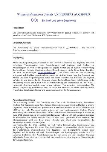 hier - WissenschaftsZentrum Umwelt - Universität Augsburg