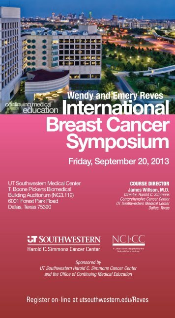 International BreastCancer Symposium - UT Southwestern