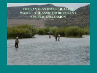 the san juan river quality water - New Mexico Game and Fish