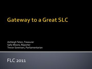 Gateway to a Great SLC - Nebraska FBLA