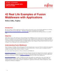 42 Real Life Examples of Fusion Middleware with ... - Fujitsu
