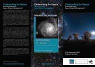 Contracting for Space Contracting for Space Contracting for Space