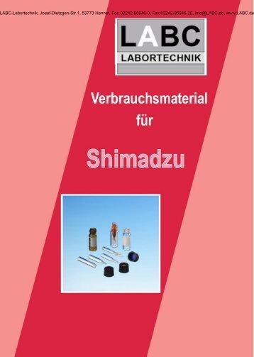 330 Verbrauchsmaterial für Shimadzu - LABC Labortechnik