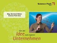 Science Park Graz - Mag. Bernhard Weber - Regionalmanagement ...