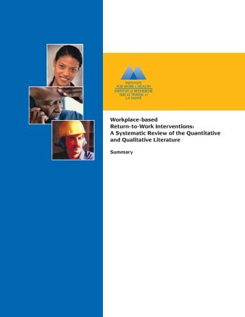 Workplace-based Return-to-Work Interventions - Institute for Work ...