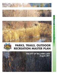 parks, trails, outdoor recreation master plan - City of Williams Lake