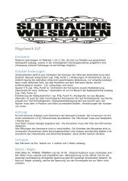 Regelwerk SLP - IG Slotracing Wiesbaden