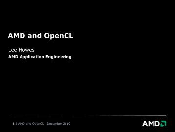 AMD and OpenCL - many-core.group