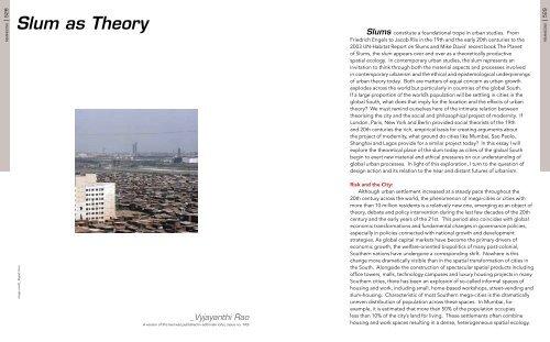 Slum as Theory pdf - Urban Design Research Institute