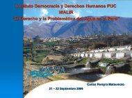 El Derecho y la Problemática del Agua en el Perú