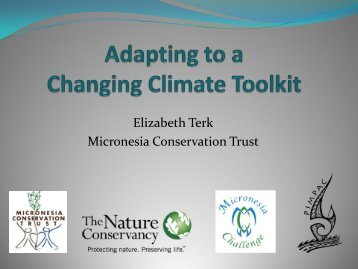 Adapting to A Changing Climate Community Toolkit - IUCN Portals