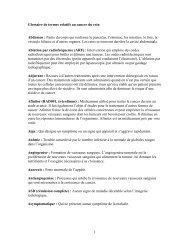 1 Glossaire de termes relatifs au cancer du rein Abdomen : Partie du ...