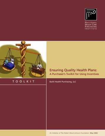 Ensuring Quality Health Plans: A Purchaser's ... - AcademyHealth