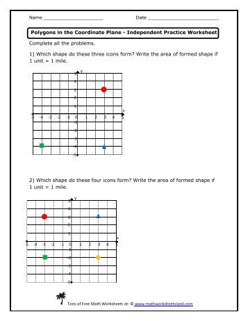 Collection Polygons In The Coordinate Plane Worksheet Photos ...