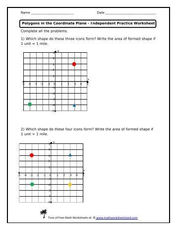 polygons in the coordinate plane worksheet resultinfos. Black Bedroom Furniture Sets. Home Design Ideas