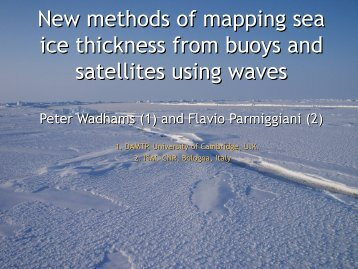 New Methods of Mapping Sea Ice Thickness Using Waves