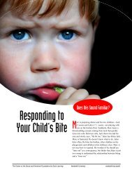 Responding to your child's bite [PDF] - Center on the Social and ...
