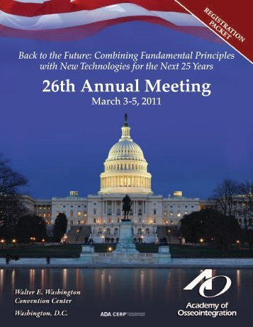 AO Registration Packet 2011 - Academy of Osseointegration