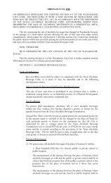 ordinance no. 2500 an ordinance repealing the existing section 4-3 ...
