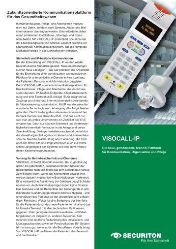 Anwendung VISOCALL IP - Securiton GmbH
