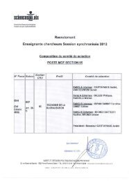 Recrutement - Sciences Po Aix