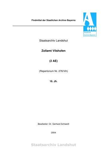 Staatsarchiv Landshut - Die Staatlichen Archive in Bayern