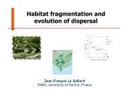 Habitat fragmentation and evolution of dispersal - Jean-Francois Le ...