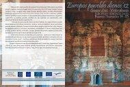 Europos paveldo dienos 2012 m. - Kultūros paveldo departamentas