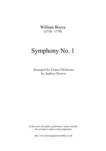 Symphony No. 1 - Forrest Guitar Ensembles