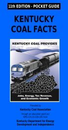 11th EDITION - POCKET GUIDE KENTUCKY COAL FACTS