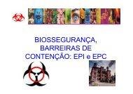 BIOSSEGURANÇA, BARREIRAS DE CONTENÇÃO: EPI e EPC
