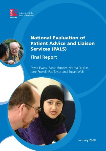 National Evaluation of Patient Advice and Liaison Services (PALS ...