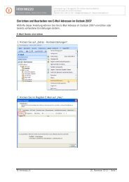 Konfiguration E-Mail/SPAM in Outlook 2007