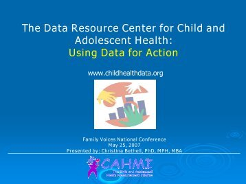 Using Data for Action - Data Resource Center for Child and ...