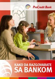 Kako da razgovarate sa bankom - ProCredit Bank